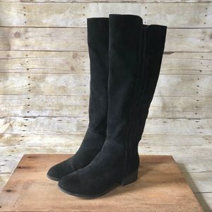 MERONA Tall Suede Black Boots